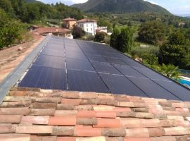 Impianto fotovoltaico 16,22 kWp Roè Volciano (BS) vetro-vetro ultima generazione