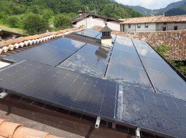 Impianto fotovoltaico 5,80 kWp Provaglio Val sabbia (BS) vetro-vetro ultima generazione